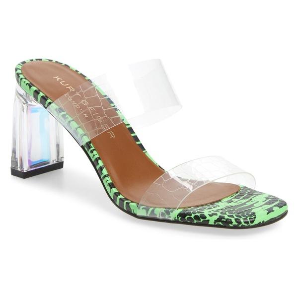 カートジェイガーロンドン レディース サンダル シューズ Kurt Geiger London Perez Slide Sandal (Women) Green Leather