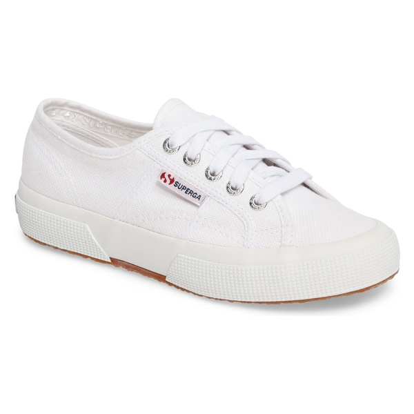 スペルガ レディース スニーカー シューズ Superga 'Cotu' Sneaker (Women) White Canvas