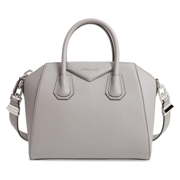ジバンシー レディース ハンドバッグ バッグ Givenchy 'Small Antigona' Leather Satchel Grey