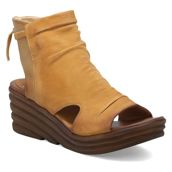 ミズムーズ レディース サンダル シューズ Miz Mooz Anna Slouch Wedge Bootie (Women) Wheat Leather