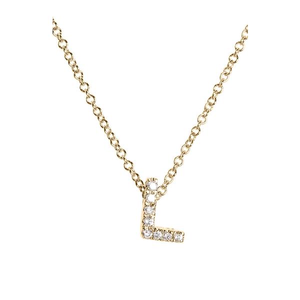 ボニー レヴィ レディース ネックレス・チョーカー・ペンダントトップ アクセサリー Bony Levy 18k Gold Pav Diamond Initial Pendant Necklace (Nordstrom Exclusive) Yellow Gold - L