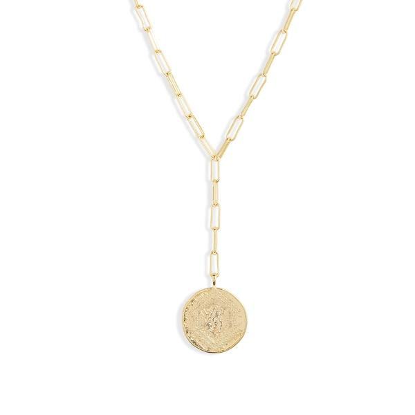 ゴリアナ レディース ネックレス・チョーカー・ペンダントトップ アクセサリー gorjana Ana Coin Y-Necklace Gold