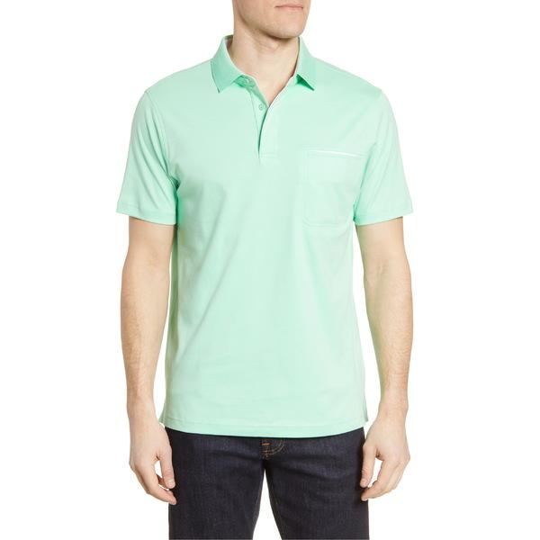 ブガッチ メンズ ポロシャツ トップス Bugatchi Short Sleeve Polo Green Tea