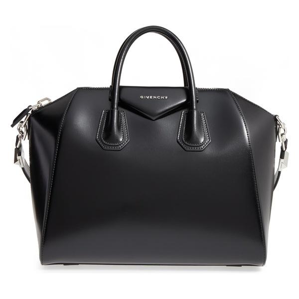 ジバンシー レディース ハンドバッグ バッグ Givenchy Medium Antigona Box Leather Satchel Black