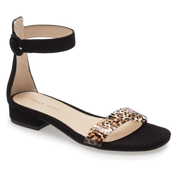 ペレモーダ レディース サンダル シューズ Pelle Moda Newport Sandal (Women) Black/ Leopard Print