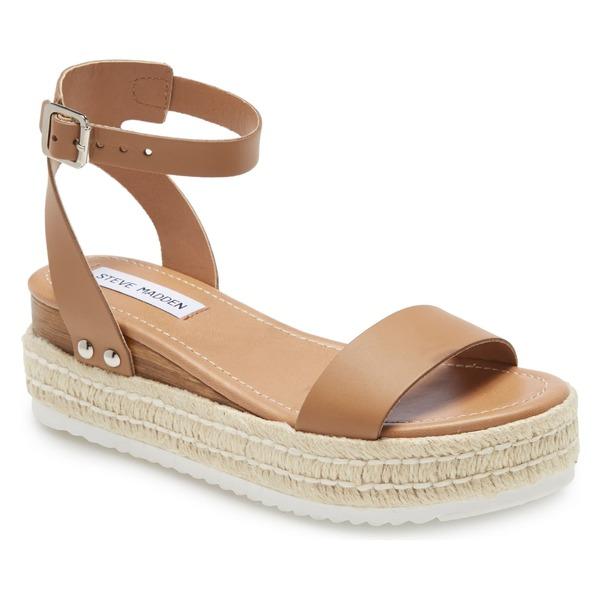 スティーブ マデン レディース サンダル シューズ Steve Madden Chaser Platform Sandal (Women) Natural Leather