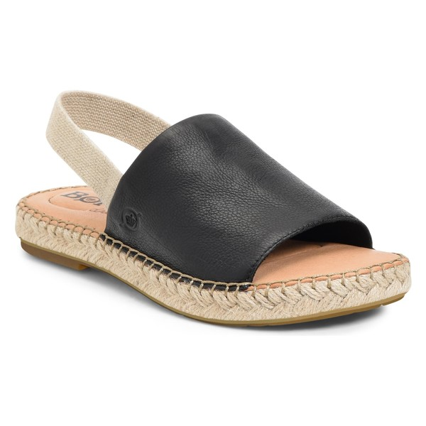 バーン レディース サンダル シューズ Brn San Isabel Slingback Sandal (Women) Black Leather