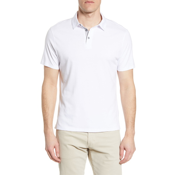 ロバートバラケット メンズ ポロシャツ トップス Robert Barakett Senneville Polo Shirt White