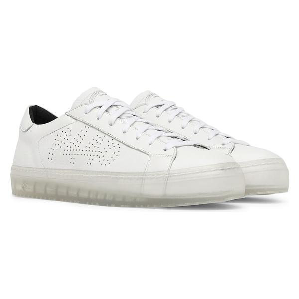 p448 レディース スニーカー シューズ P448 John L Low Top Sneaker (Women) White/ Clear
