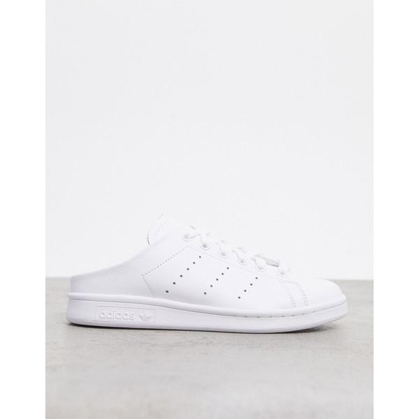 アディダスオリジナルス レディース スニーカー シューズ adidas Originals Stan Smith sneaker mules in white White