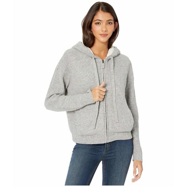 スプレンディット レディース パーカー・スウェットシャツ アウター Cashblend Zip-Up Hoodie with Sherpa Lining Light Grey Heather