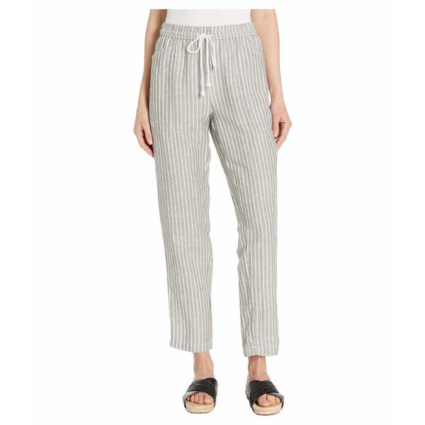 モッドドック レディース カジュアルパンツ ボトムス Stripe Pull-On Drawstring Pants Grey