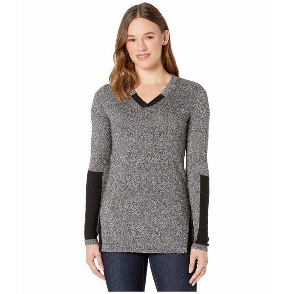 スマートウール レディース ニット&セーター アウター Shadow Pine Tunic Sweater Black/Moonbeam Marl