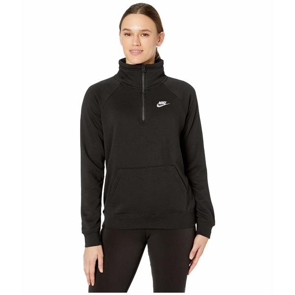 ナイキ レディース パーカー・スウェットシャツ アウター NSW Essential Top 1/4 Fleece Black/White