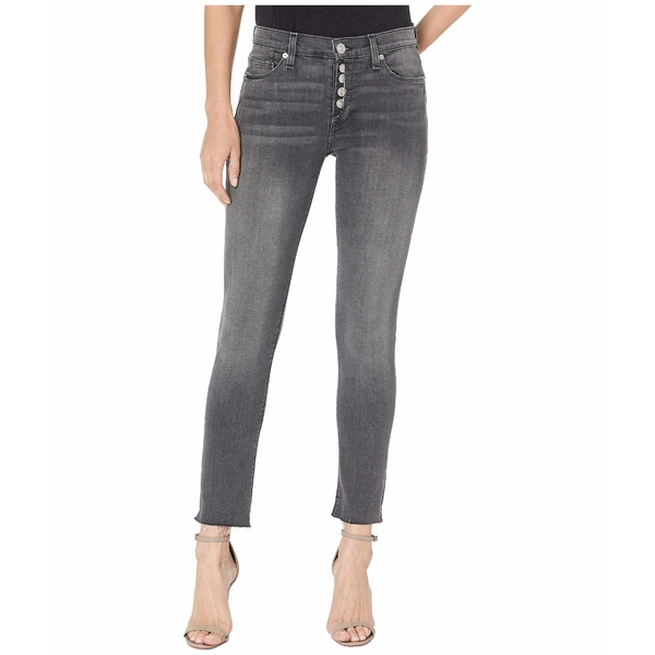 ハドソンジーンズ レディース デニムパンツ ボトムス Nico Mid-Rise Crop Skinny Jeans w/ Exposed Button Fly in Downtown Downtown