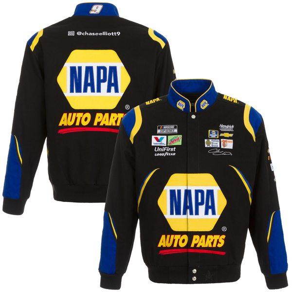 ジェイエイチデザイン メンズ ジャケット&ブルゾン アウター Chase Elliott JH Design NAPA 2020 FullSnap Twill Uniform Jacket White/Royal