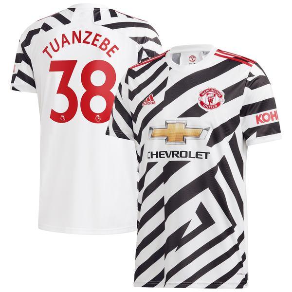 アディダス メンズ ユニフォーム トップス Axel Tuanzebe Manchester United adidas 2020/21 Third Replica Player Jersey White