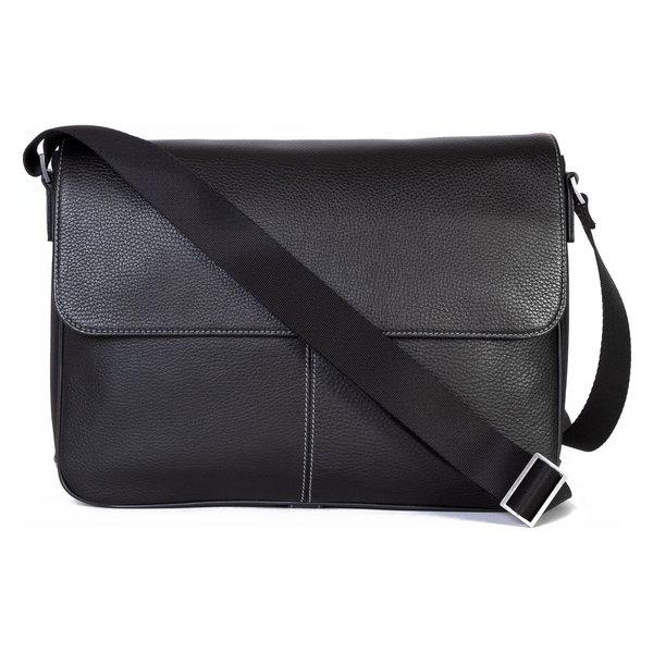 ボコニ メンズ ショルダーバッグ バッグ Boconi Tyler Leather Messenger Bag Black