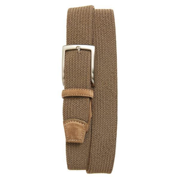トリノ メンズ ベルト アクセサリー Torino Woven Stretch Belt Khaki