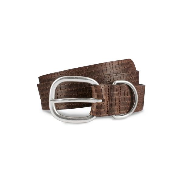 アレン エドモンズ メンズ ベルト アクセサリー Allen Edmonds Croco Print Leather Belt Natural