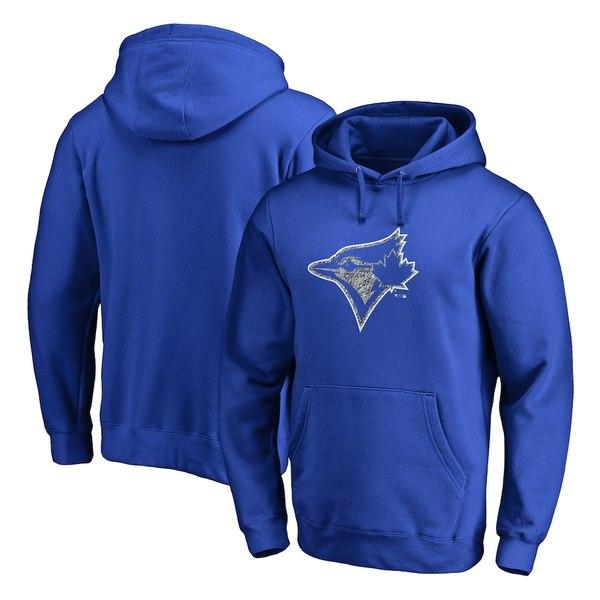 ファナティクス メンズ パーカー・スウェットシャツ アウター Toronto Blue Jays Fanatics Branded Static Logo Pullover Hoodie Royal