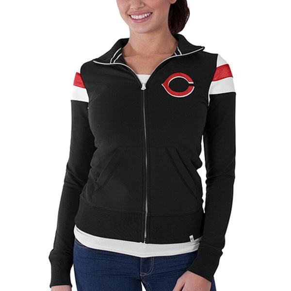 フォーティーセブン レディース ジャケット&ブルゾン アウター Cincinnati Reds '47 Women's Crossover Full Zip Track Jacket Black