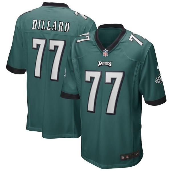 ナイキ メンズ シャツ トップス Andre Dillard Philadelphia Eagles Nike Game Player Jersey Midnight Green