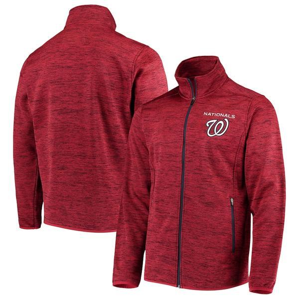 カールバンクス メンズ ジャケット&ブルゾン アウター Washington Nationals G-III Sports by Carl Banks High Jump Transitional Full-Zip Jacket Red
