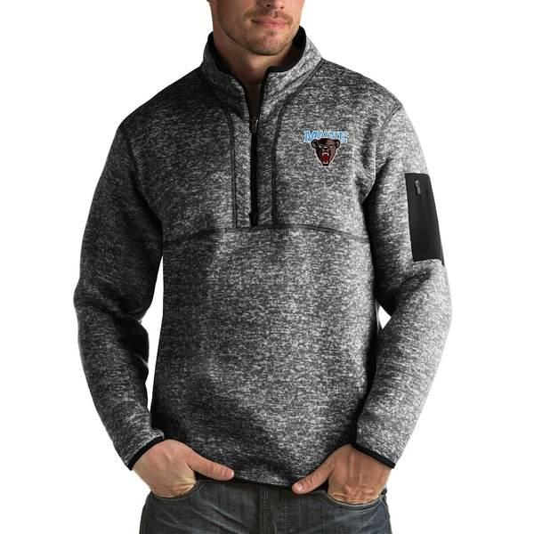 アンティグア メンズ ジャケット&ブルゾン アウター Maine Black Bears Antigua Fortune Big & Tall Quarter-Zip Pullover Jacket Black