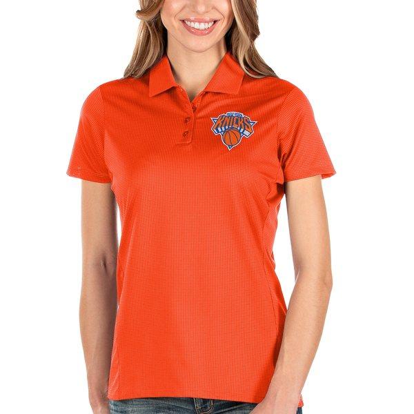 アンティグア レディース ポロシャツ トップス New York Knicks Antigua Women's Balance Polo Orange