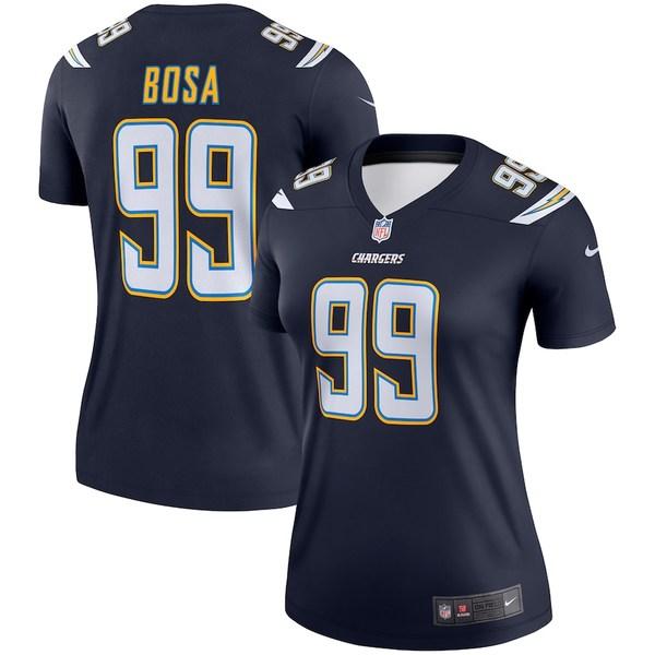ナイキ レディース シャツ トップス Joey Bosa Los Angeles Chargers Nike Women's Legend Jersey Navy