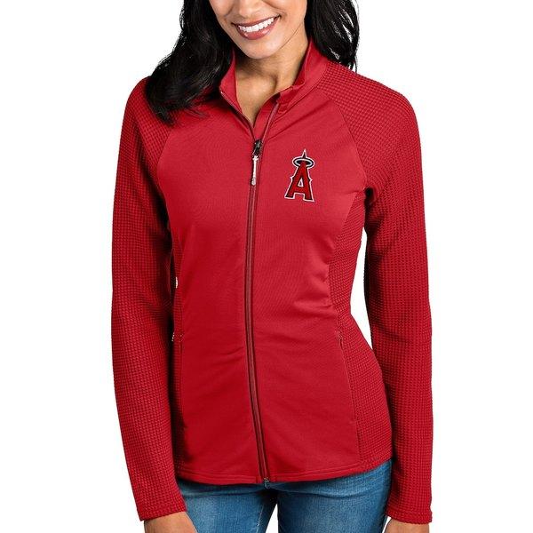 アンティグア レディース ジャケット&ブルゾン アウター Los Angeles Angels Antigua Women's Sonar Full-Zip Jacket Red