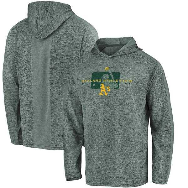 マジェスティック メンズ パーカー・スウェットシャツ アウター Oakland Athletics Majestic Authentic Collection Ultra-Light Raglan Pullover Hoodie Green