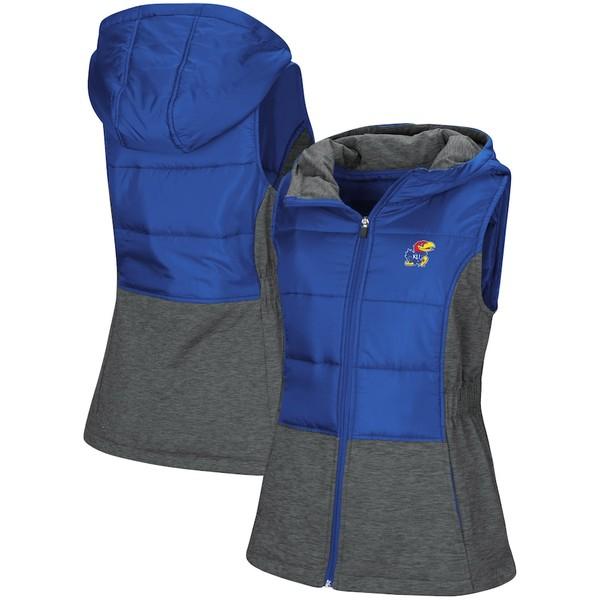 コロシアム レディース ジャケット&ブルゾン アウター Kansas Jayhawks Colosseum Women's Ray Quilted Full Zip Vest Royal
