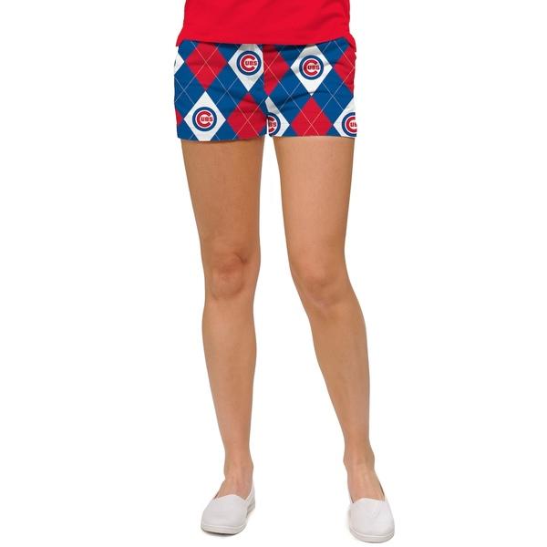 ラウドマウス レディース カジュアルパンツ ボトムス Chicago Cubs Loudmouth Women's Argyle Mini Shorts Blue