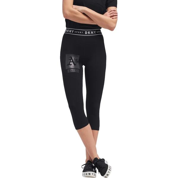 ダナキャラン レディース カジュアルパンツ ボトムス Oakland Athletics DKNY Sport Women's The Karan Capri Leggings Black