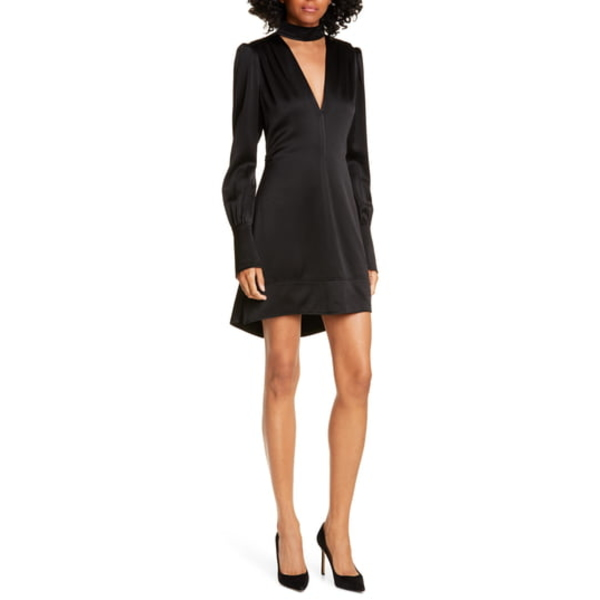 【返品送料無料】 エーエルシー レディース Choker ワンピース エーエルシー トップス Garrison BLACK V-Neck Choker Mini Dress BLACK, エンガルチョウ:5336025f --- independentescortsdelhi.in