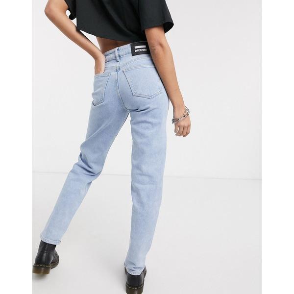 ドクターデニム レディース デニムパンツ ボトムス Dr Denim Stevie mid rise straight leg authentic fit jean in light wash blue Simple light blue