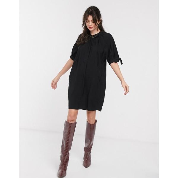 ホイッスルズ レディース ワンピース トップス Whistles celestine mini dress in black Black