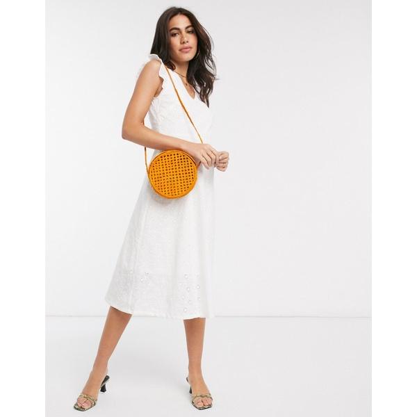 ピープル・ツリー レディース ワンピース トップス People Tree organic cotton broderie smock dress White