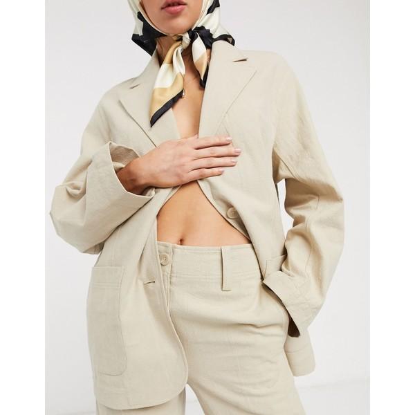 アンドアザーストーリーズ レディース カジュアルパンツ ボトムス & Other Stories linen wide leg pants in beige Beige