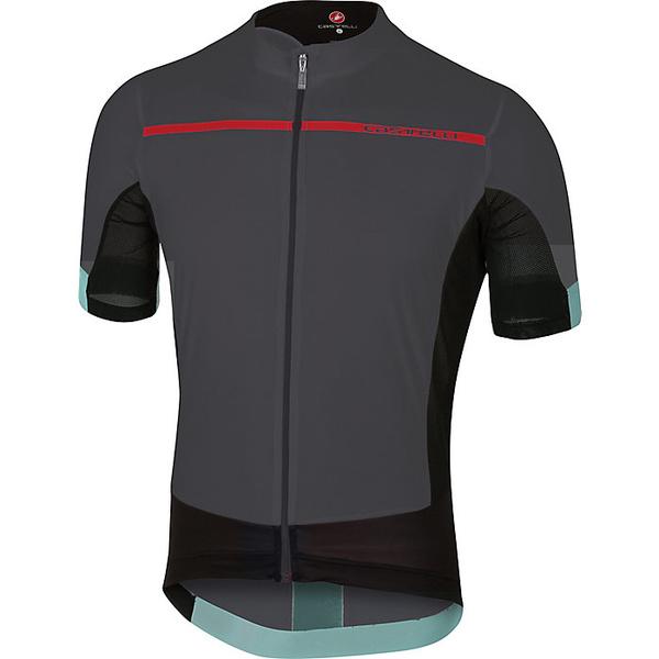 カステリ メンズ サイクリング スポーツ Castelli Men's Forza Pro Jersey Anthracite / Red
