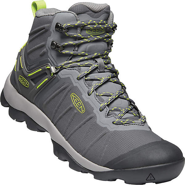 キーン メンズ ハイキング スポーツ Keen Men's Venture Mid Waterproof Shoe Magnet / Chartreuse