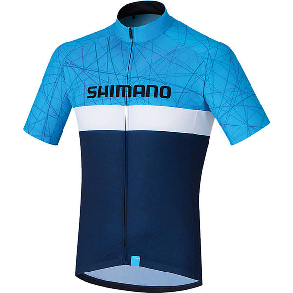 シマノ メンズ サイクリング スポーツ Shimano Men's Team Jersey Navy