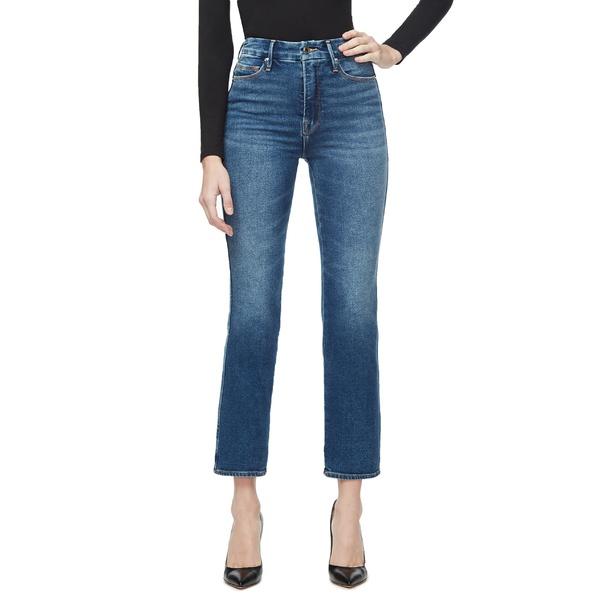 グッドアメリカン レディース カジュアルパンツ ボトムス Good American Good Curve High Waist Ankle Straight Leg Jeans (Blue 502) (Regular & Plus Size) Blue190