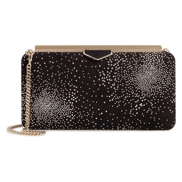 ジミーチュウ レディース クラッチバッグ バッグ Jimmy Choo Ellipse Constellation Embellished Clutch Black/ Crystal