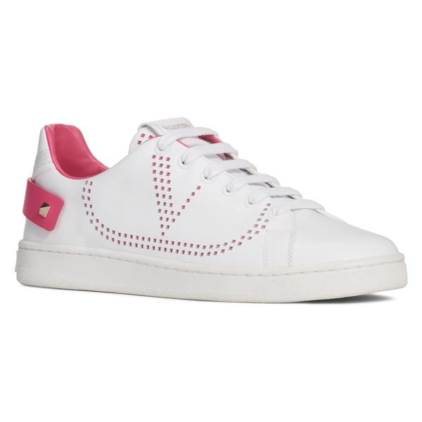 ヴァレンティノ ガラヴァーニ レディース スニーカー シューズ VALENTINO GARAVANI Net Perforated Court Sneaker (Women) White/ Pink
