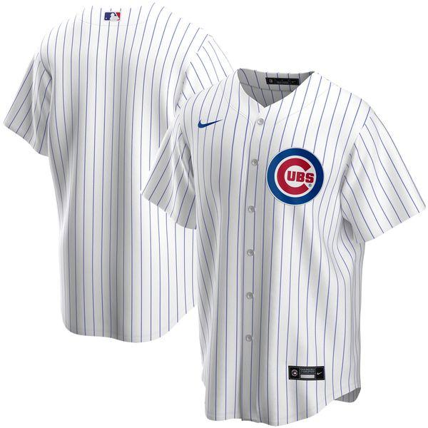 ナイキ メンズ ユニフォーム トップス Chicago Cubs Nike Home 2020 Replica Team Jersey White