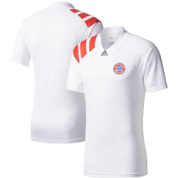アディダス メンズ ユニフォーム トップス Bayern Munich adidas 2017/18 Training VNeck Jersey White