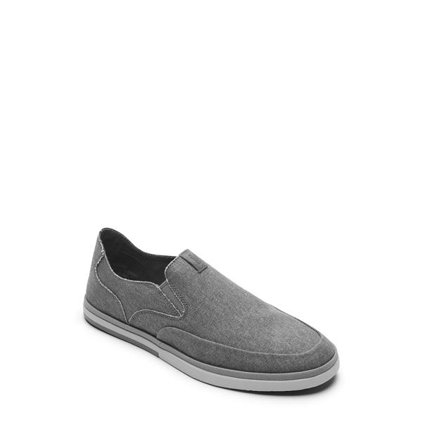 ロックポート メンズ サンダル シューズ Austyn Slip-On Steel Grey Canvas